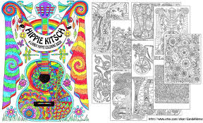 Hippie Kitsch Adult Coloring Book By Candy