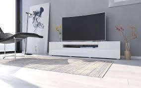 tv lowboard sochi in weiss hochglanz 180 cm