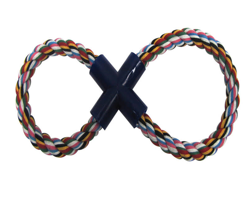 Diggers 03897 Figure Eight Rope Dog Toy - Small