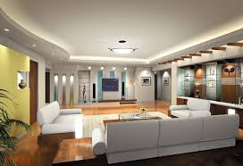 interior european living room with modern ceiling