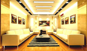 False Ceiling Design For Living Room With Two Fans