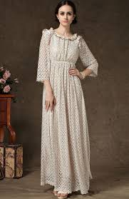 apricot long sleeve hollow lace maxi dress abaday com