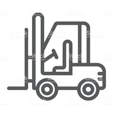100 Truck Sign Forklift Line Icon Automobile And Cargo Vector Graphics A