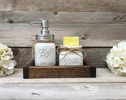 Kitchen Decor Farmhouse Mason Jar Spongeholder