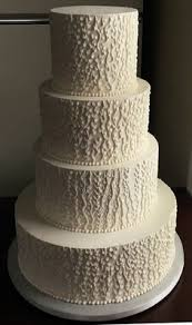 4 Tier Textured Buttercream Wedding Cake Delivered At Stone Mill Inn Hallam PA