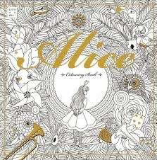 Alice In Wonderland Coloring Book Art Therapy Anti Stress Paint Adult Relax
