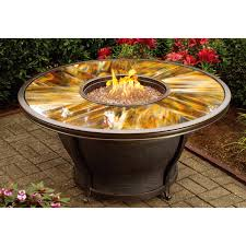 Agio Patio Furniture Covers by Agio Moonlight 48 In Round Fire Pit Table With Free Cover Hayneedle