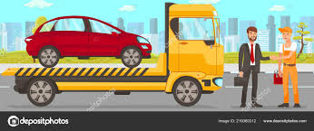 100 How To Start A Tow Truck Business W And Driver Services Vector Illustration Stock Vector