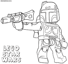 Lego Starwars Boba Fett Colouring Sheet
