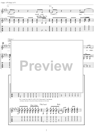 Smashing Pumpkins Landslide Tab by 1979 With Tab Staff Sheet For Piano And More