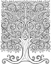 Tree Of Life Coloring Page Free Printable Dover Publications
