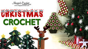 Crochet Granny Square Christmas Tree Skirt Stocking And Wall Hanging PA946