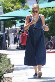 busy philipps in long jeans dress 08 gotceleb