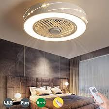 led fan deckenventilator moderne led fan deckenleuchte mit fernbedienung leise unsichtbares fan licht schlafzimmer le wohnzimmer kindergarten