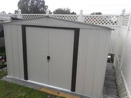 Sears Metal Shed Instructions by Arrow Newport 10 Ft X 8 Ft Steel Shed Np10867 The Home Depot