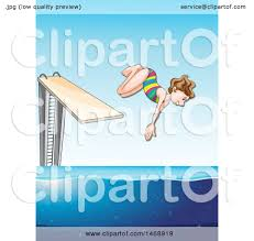 Clipart Of A Girl Jumping Off Diving Board