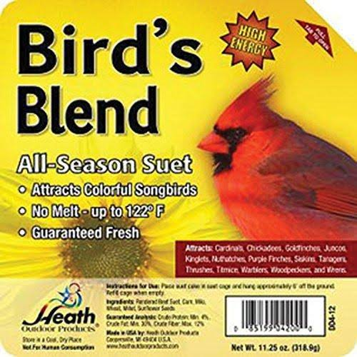 Heath Birdie's Blend Suet Cake - 11.25oz, 12 Count