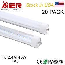 usa stock fa8 single pin 8ft led light 2 4m 8ft t8 led