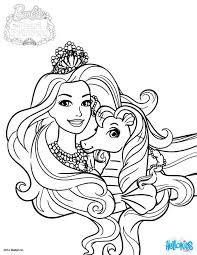 Coloring Pages Princess Barbie Eliolera