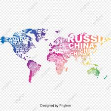 Vector Creativo Ingles Carta Mapa Del Mundo Mapa Mapa Del