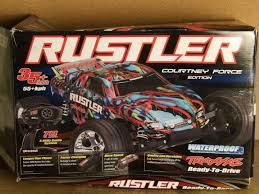 Traxxas Rustler 1/10 Scale Stadium Truck With TQ 2.4GHz Radio ... Traxxas Rustler 110 Rtr 2wd Electric Stadium Truck Rock N Roll W White Tra370541wht 370764rnrs Vxl Brushless Xl5 Battery And Nitro 25 With Tsm Blue Tra370541blue 4wd Scale Rc Car Wikipedia Traxxas Rustler Blue Brushed Tq 24