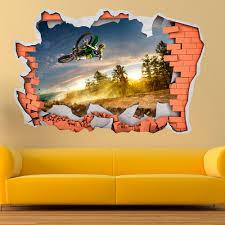 3d vinyl wall sticker motocross