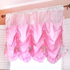 Pink Ruffled Window Curtains by Pink Balloon Valance Full Size Of Purple Kitchen Valance Purple