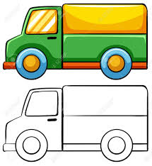 100 Truck Drawing Delivery In Simple Royalty Free Cliparts Vectors And