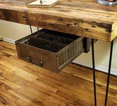 Reclaimed Wood Desk Top Office Furniture Modern Custom Modern Office Desks Custom Reclaimed Wood Furniture Wood