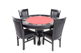 Nighthawk Porker Table Black Round Poker Table Dining Top ...