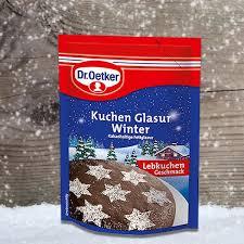 kuchenglasur winter 125g die dr oetker winter kuchen