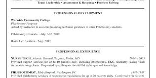 Phlebotomist Resume Examples Example Sample No Experience