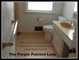 Tiling A Bathroom Floor Over Linoleum by Painting Tile In The Bathroom With Chalk Paint The Purple