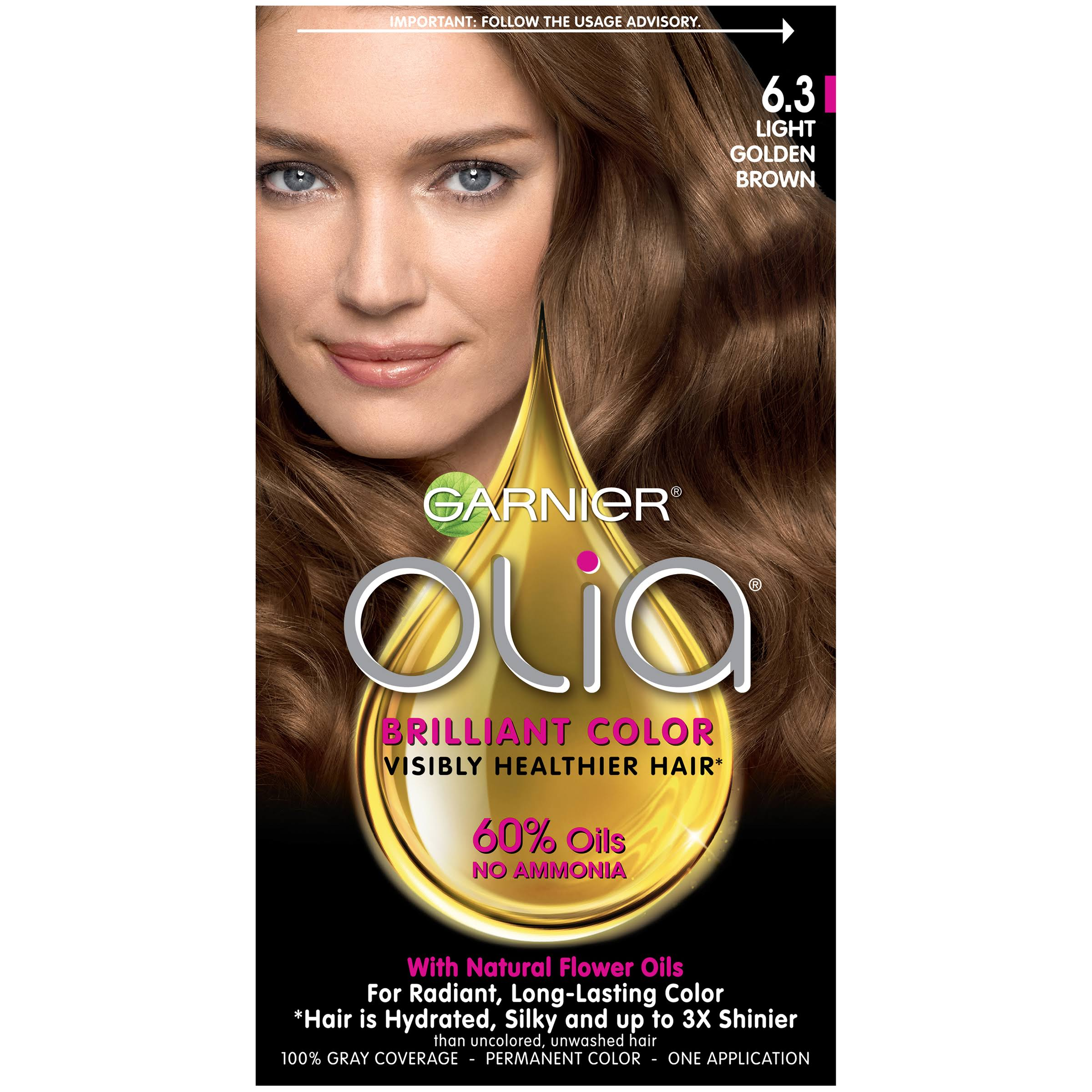 Olia Brilliant Color Permanent Color, Light Golden Brown 6.3