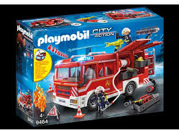 100 Playmobil Fire Truck City Action 9464 Engine With Water Pump Toys Play