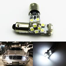 2x bax9s h6w white 6000k no error led parking lights for mercedes