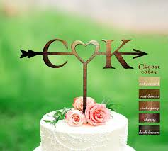 Letter C K Cake Toppers For Wedding