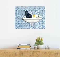 posterlounge wandbild meine badezimmer katze otto