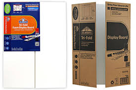 Elmers Foam Tri Fold And Corrugated Cardboard Science Fair Project Display Boards