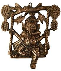 Made With Brass Metal Ganesh Jhoola In Black Handicraft India Art By Bharat Haat BH02855