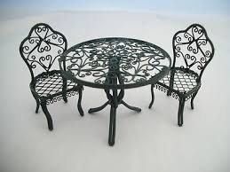 Garden Table Chairs 1812 3 1 Miniature Dollhouse Furniture 12 Scale