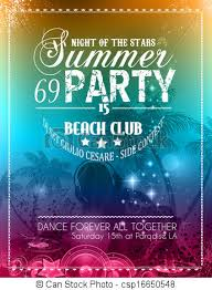 Beach Party Flyer For Your Latin Music Event Stock Illustration