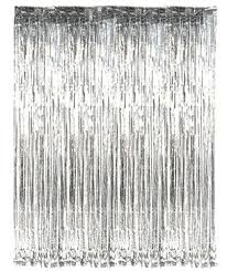 Foil Fringe Curtain Nz by Party Propz Silver Metallic Fringe Foil Curtain Width 3ft By