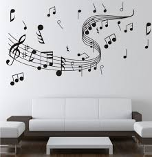 Note Music Wall Sticker 0855 Decal Arts Paper Home Studio Decor