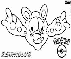 Reuniclus A Pokemon Gothitelle Psychic Coloring Page