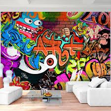 fototapete graffiti streetart 352 x 250 cm vlies tapeten wandtapete moderne wanddeko wohnzimmer schlafzimmer büro flur bunt 9068011a