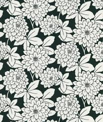 Souci Fun Floral Wallpaper In Black And White By Brewster Home Fashions Country Decor