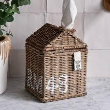 rustikales rattan rm 48 tissue box riviera maison 442790