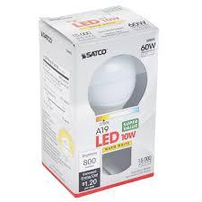 satco s9593 10 watt 60 watt equivalent frosted warm white multi