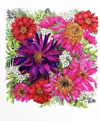The Most Inspiring Coloring Book Ive Ever Inspired Floribunda By Leila Duly A Fabrics Textile Designer From East London